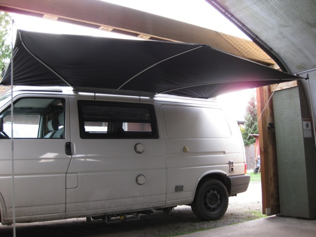 shady boy awning installation a· eurovan stuff